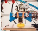 A 3D printer on display at the Robot and Makers Milano Show in Milan on March 30,2014.