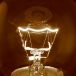 picture of a light bulb filament
