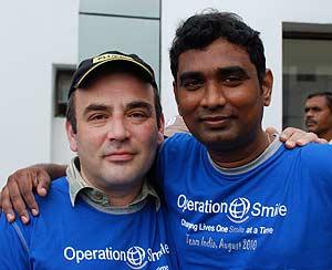 L-R: Arthur Treger and Biomed Nilesh Kadam, Operation Smile, India.