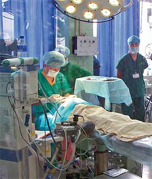 The OR during Michael Y. Young's Operation Smile mission in Yuxi, China.