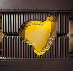 Image of a multileaf collimator.